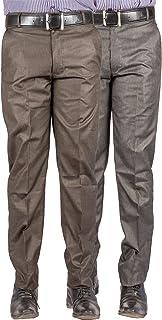 American-Elm Pack of 2 Men's Basic Formal Trousers