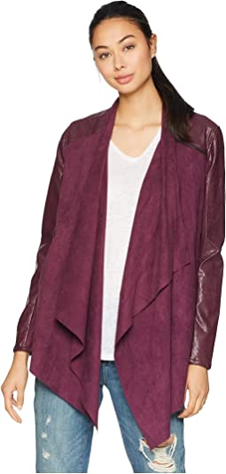 Drape Front Jacket in Cabernet
