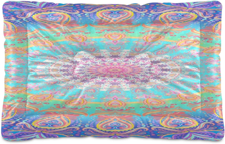 KEEPREAL Colorful Mandalas Dog Max favorite 79% OFF Comfortabl Cat Rectangle Bed