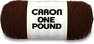Caron One Pound Solids Yarn, 16oz, Gauge 4 Medium, 100% Acrylic - Espresso- For Crochet, Knitting & Crafting ( 1 Piece )