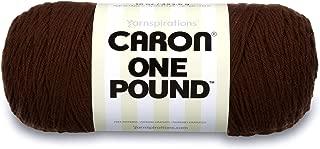 Caron One Pound Solids Yarn - (4) Medium Gauge 100% Acrylic - 16 oz - Espresso- For Crochet, Knitting & Crafting