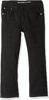 U.S. POLO ASSN. Toddler Boys' Straight Leg Jean, Moto Black Wash, 3T