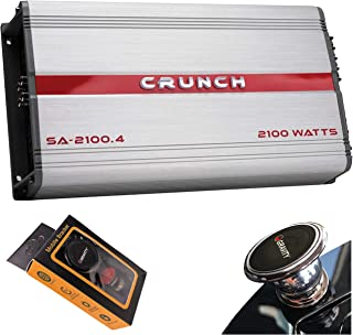 Crunch SA-2100.4 Smash Series 2,100-Watt 4-Channel Class AB Amp Car Audio Sound System Subwoofer Speaker Amp Amplifier wit...