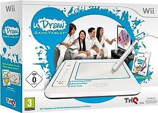 THQ uDraw Gametablet + uDraw Studio - Volante/mando (Wii, Analogico, Con cables, uDraw Studio, Blanco) White
