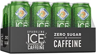 Sparkling Ice +Caffeine Triple Citrus Sparkling Water, with Antioxidants and Vitamins, Zero Sugar, 16 fl oz Cans (Pack of 12)