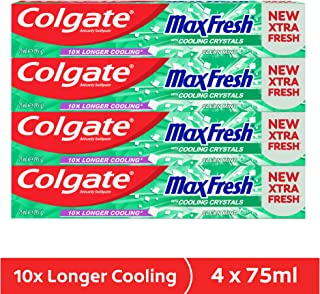 Colgate Max Fresh Clean Mint Gel Toothpaste - 4 x 75 ml