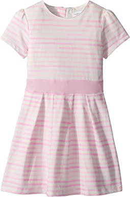 Pretty Pink Stripes Party Dress - Soft Cotton (Toddler/Little Kids/Big Kids)