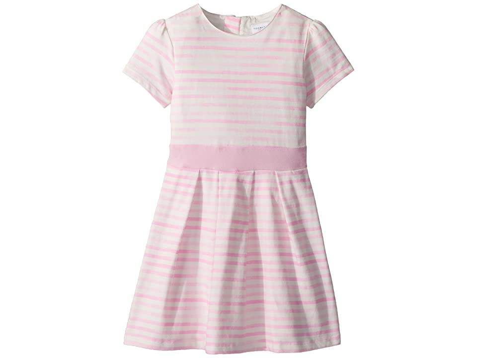 Toobydoo Pretty Pink Stripes Party Dress Soft Cotton (Toddler/Little Kids/Big Kids) (Pink) Girl