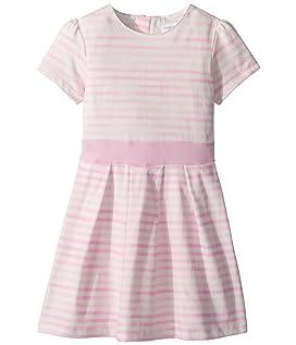 Pretty Pink Stripes Party Dress - Soft Cotton (Toddler/Little Kids/Big Kids)