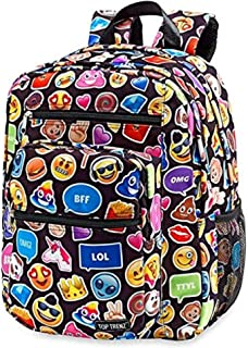 top trenz emoji backpack