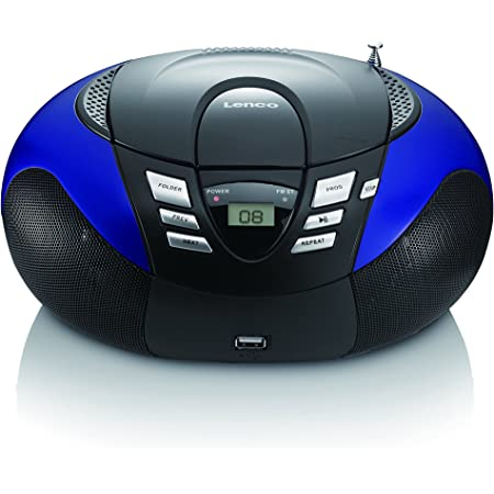 Lenco Radio Mit Cd Mp3 Player Scd 37 Tragbares Ukw Mw Radio Mit Usb Teleskopantenne Usb Blau Audio Hifi