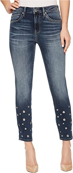 Mavi Jeans - Tess High-Rise Ankle Super Skinny in Shaded Eyelet
