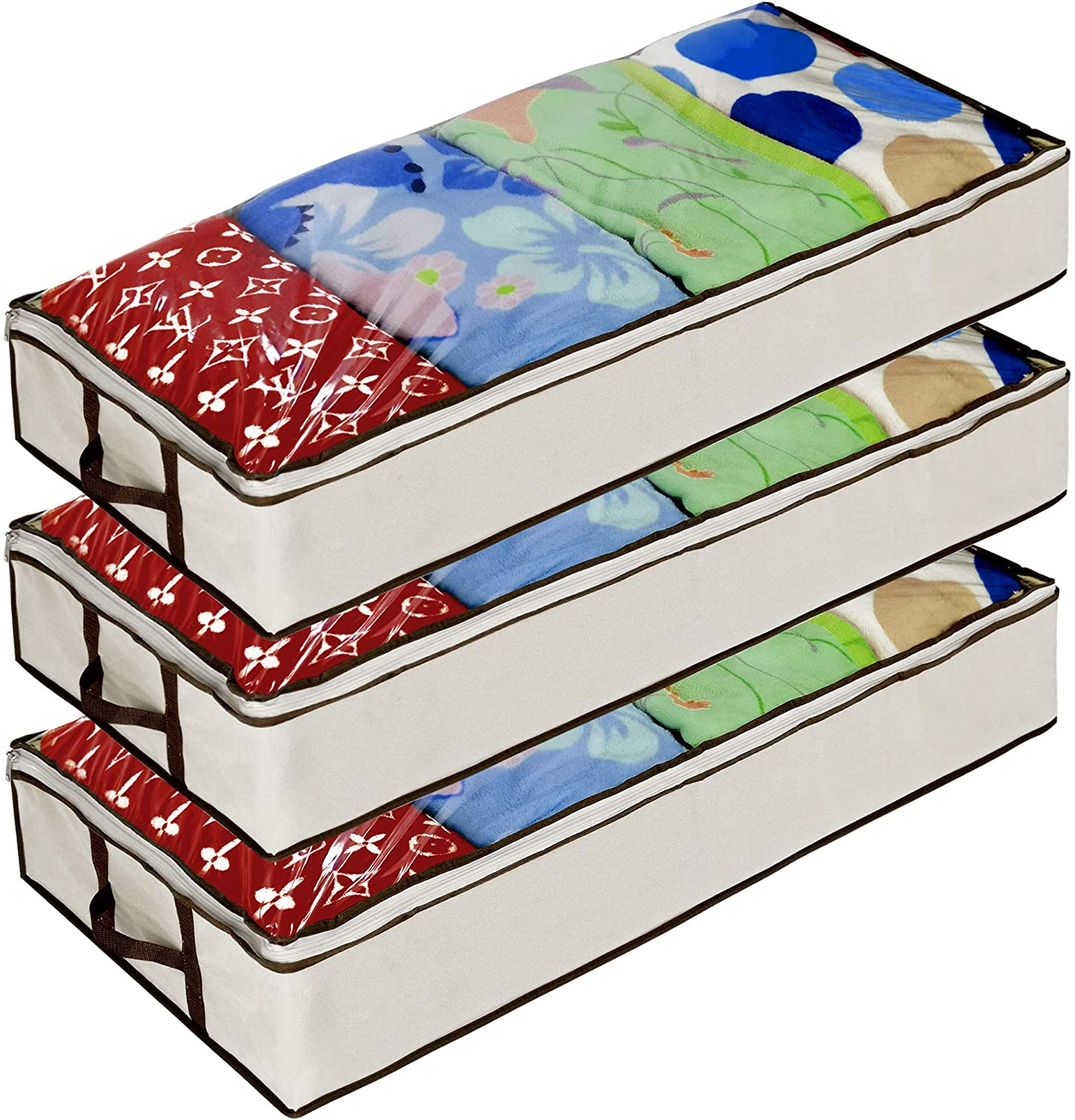 Ziz Home unisex Zippered Under Bed Storage Underb Cheap mail order specialty store for Used Pack Bag 3