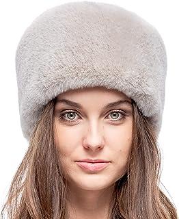 قبعة فروزين روسية من الفرو الصناعي للنساء - فرو مخملي ناعم - نمط كوساك المريح