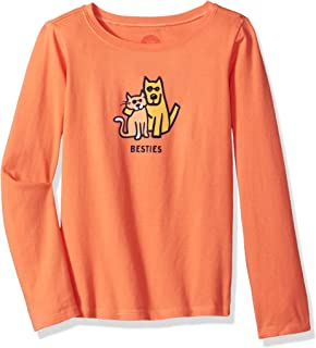Life is Good G Long Sleeve Girls Tee Besties Frscrl T-Shirt,