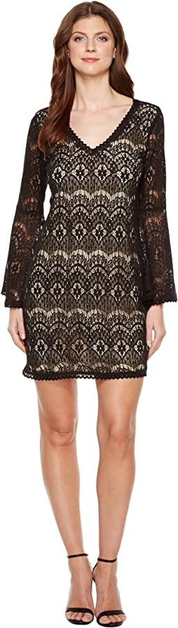Carey Lace Dress Nude Lining