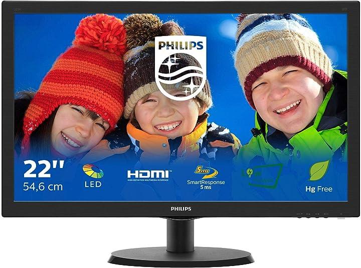 Monitor pc philips 223v5lhsb2 monitor per pc desktop 22