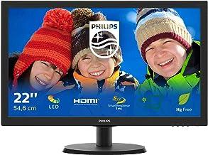 Philips 223V5LHSB2 – 22 Zoll FHD Monitor, FlickerFree (1920×1080, 60 Hz, VGA,..