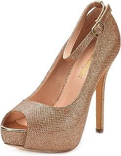 Women's Swan-10 High Heel Plaform Dress Pump Shoes