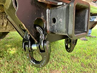 Two Pack Black 1/2 in Towing Hitch Safety Chain Connector Link Chevy Ford Dodge