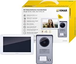 Vimar K40935 - Kit de entrada de vídeo de 1 familia con entrada de vídeo LCD de 7 pulgadas, panel de entrada de audio/víde...