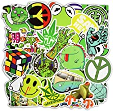 365Cor - Not Repeat 50 Pcs Green Stickers for Car Styling Luggage Laptop Decoration Cool Decal Fashion Brand
