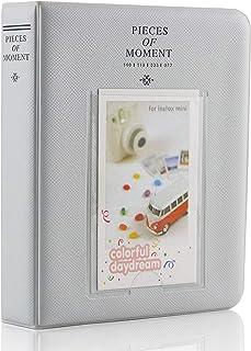 Yosuny für 3 Zoll Fujifilm Instax Filme, Fuji Mini 8 8+ Mini 9 70 90 25 50s 7s Fotoalbum PU Leder Fotoalbum (64 Taschen, Weißer Rauch)