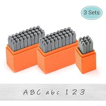 ImpressArt - Basic Bridgette Letter & Number Metal Stamping Kit - (63 Piece Punch Set) Complete Set of 3 Metal Stamps - Uppercase/Lowercase/Number - 3MM