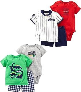 Carter's Baby Boys' 6-Piece Bodysuit Tee and Short Set