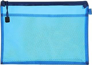 Apple 755A H103 Plastic Zipper File, B5 Size - Blue