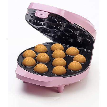 Bestron Appareil à cake-pops au design rétro, Sweet Dreams, Revêtement antiadhésif, 700 W, Rose