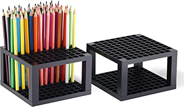 CAXXA 96 Hole Art Plastic Pencil & Brush Holder Desk Stand Organizer Holder for Pens,..