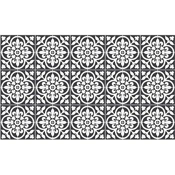 Rameng 12 Pieces Stickers Adh/ésifs Carrelages Sticker Autocollant Carreaux de Ciment Mosa/ïque Salle de Bain et Cuisine