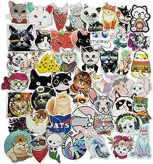 ملصقات القطط من أسيكار، حيوان | 50 قطعة | ملصقات فينيل مضادة للماء للكمبيوتر المحمول، لوح التزلج، زجاجات المياه، الكمبيوتر...