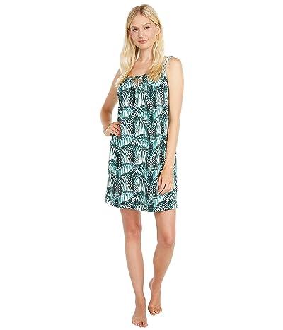 BedHead Pajamas Sleeveless Cotton Chemise (Maui Palm) Women