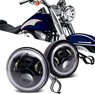 7 Inch led Headlights with 7 inch Housing Bucket DRL Turn Signal Lights Motorcycle