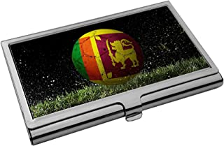 Premium Stainless Steel Business Card Holder - Flag of Sri Lanka (Sri Lankan) - Soccer