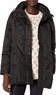London Fog Women's Packable Diamond Quilted Down Coat