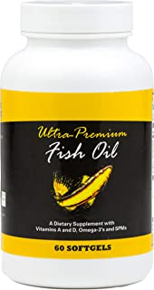 Ultra-Premium Fish Oil with Active SPMs and PRMs   Advanced Full Spectrum Omega 3 Supplement with Naturally Occurring Vitamins A&D   60 Ct Softgels Alaskan Cod Made in The USA LeBlanc WellBeing