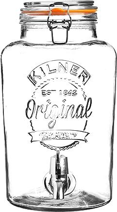Kilner Clip Top Round Glass Drinks Dispenser, 8 Litre