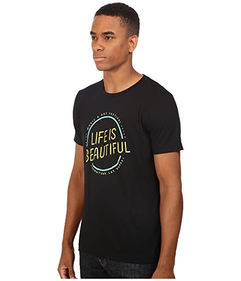 Camiseta Circle de is en Logo Beautiful redondo Life cuello con negro dPRd6qXxn