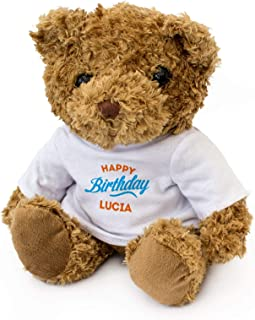 New - Happy Birthday Lucia - Teddy Bear - Cute Soft Cuddly - Gift Present