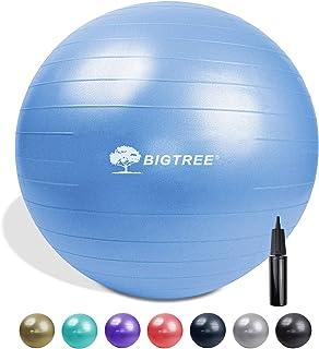 "Bigtree Yoga Ball Exercise Fitness Core Stability Balance Strength Anti-Burst Heavy Duty Blue 21.6"" (55cm)"