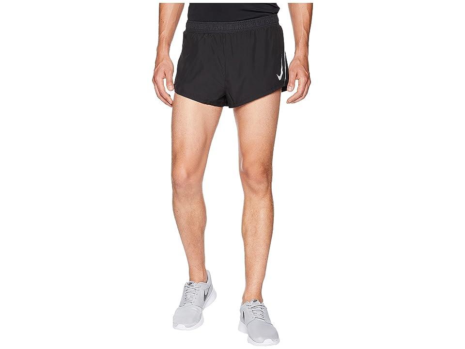 Nike Fast Shorts 2 (Black/Gunsmoke) Men