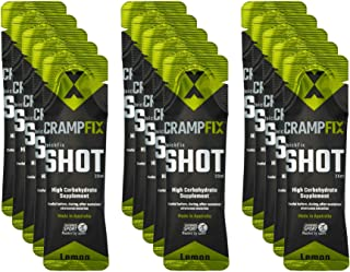 CrampFix Sports Shot, Prevents and Relieves Muscle Cramps in Seconds, Easy Carry Sachets, 15 Pack, All Natural, Lemon