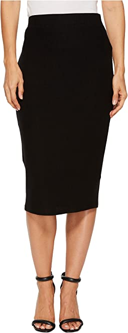 Three Dots - Brushed Sweater Midi Skirt