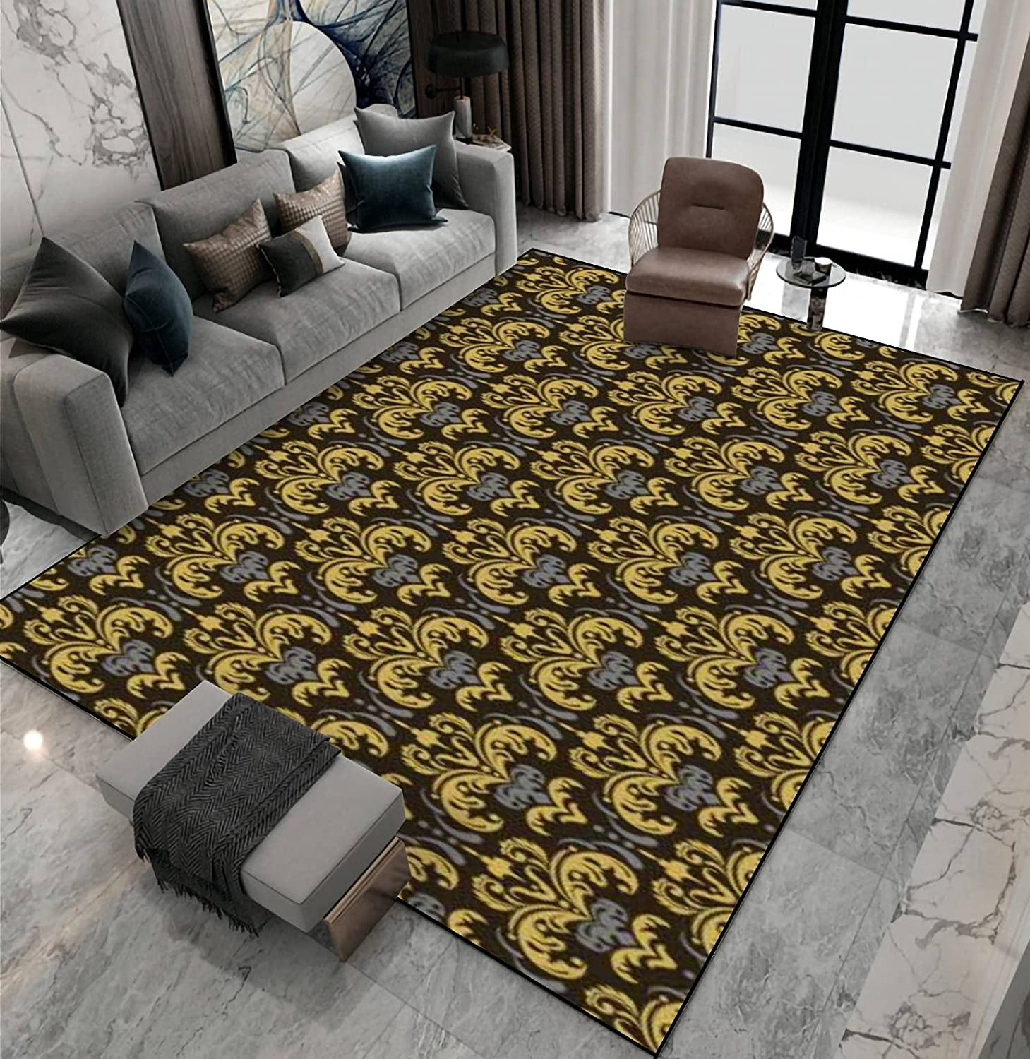 Area Rug Non-Slip Floor Mat Pattern Mail order cheap Background in Floral 2021new shipping free shipping Vintage