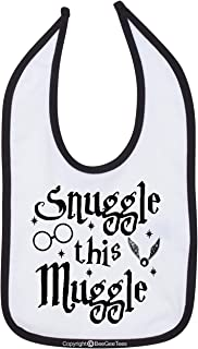 BeeGeeTees Snvggle This Mvggle Funny Baby Bib Multi Color Trim Wizard Infant Bib