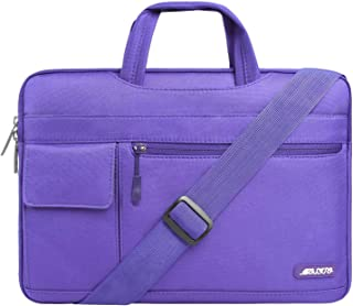 MOSISO Laptop Shoulder Bag Compatible 13-13.3 Inch MacBook Pro, MacBook Air, Notebook Computer, Protective Polyester Flapover Messenger Briefcase Carrying Handbag Sleeve Case Cover, Ultra Violet