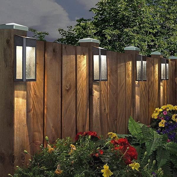 天堂太阳能 4 包 LED 强调灯 10 流明铸铝户外装饰